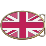 Union Jack Flag Pink Buckle. Code A0093